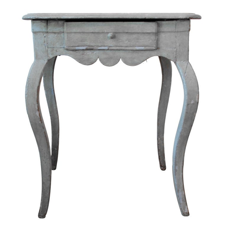 18th Century Swedish Table With Cabriole Legs 1