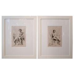 Pair of 18th Century C. Natoire Engravings