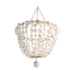 Small Crystal Bowl-Shaped Chandelier