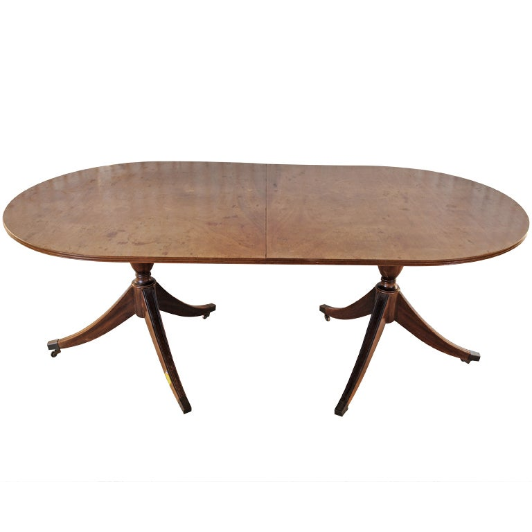 Double Pedestal Dining Table With Leaves