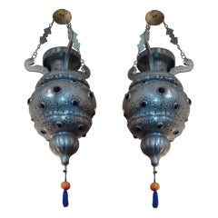 Pair of 19th Century Moroccan Lanterns