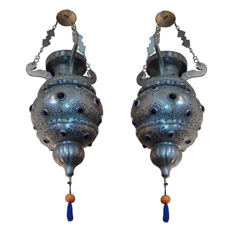 Pair of 19th Century Moroccan Lanterns 1