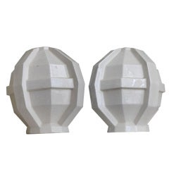 Pair of French Geometric Vessels