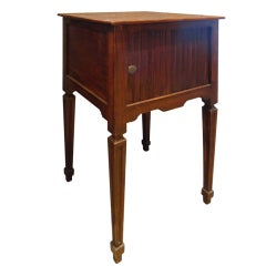 19th Century Walnut Table with Tambour Front
