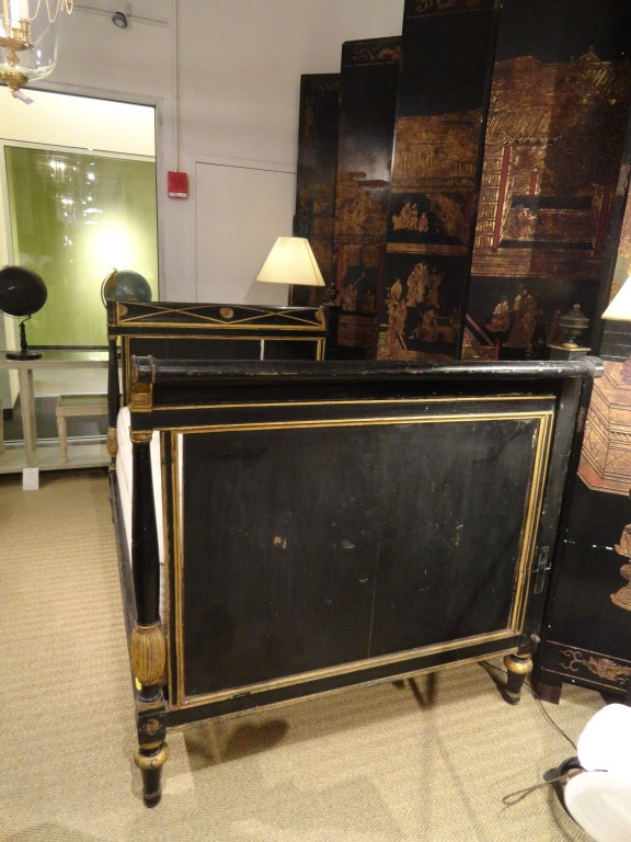 Late 18th Century Paint and Gilt Directoire Bed 5