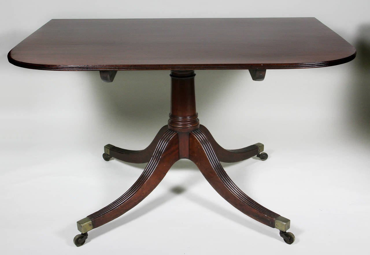 Regency Mahogany Two Pedestal Dining Table At 1stdibs