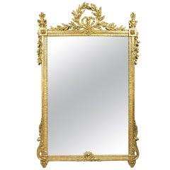 Large Louis XVI Giltwood Mirror