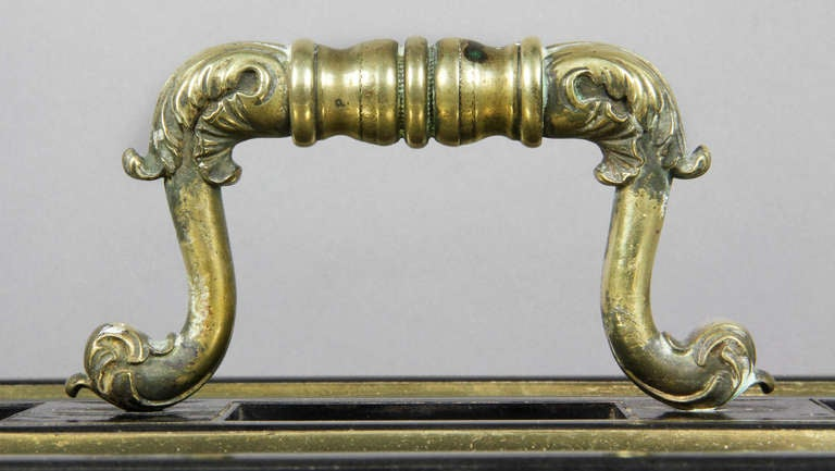 19th Century Regency Ebony And Brass Inkstand For Sale