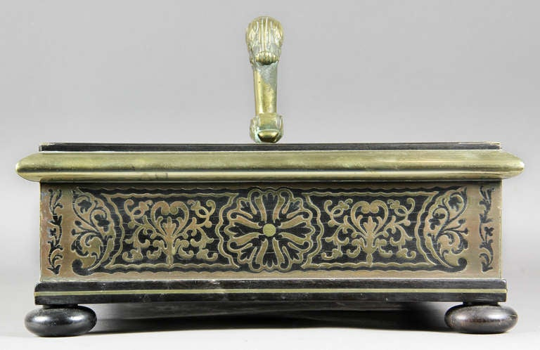 Regency Ebony And Brass Inkstand For Sale 3
