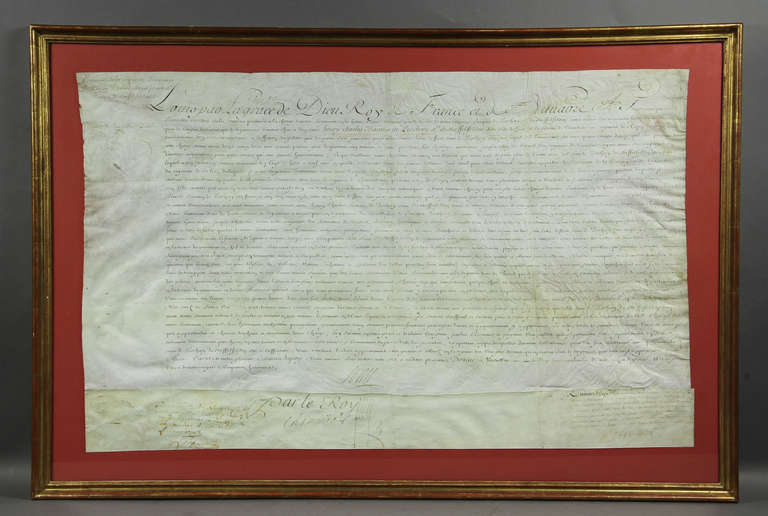 document signed by louis xiv at 1stdibs. Black Bedroom Furniture Sets. Home Design Ideas