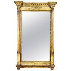 Spanish Neoclassic Marble Mounted Bilboa Mirror
