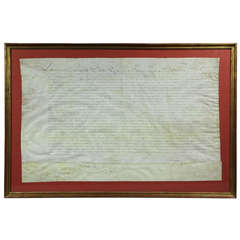 Document Signed By Louis XIV