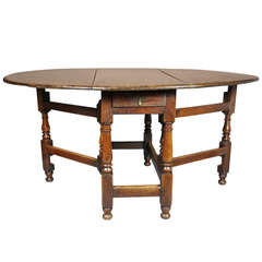 Jacobean Oak Gateleg Dining Table