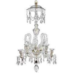 Anglo-Irish Cut-Glass Chandelier