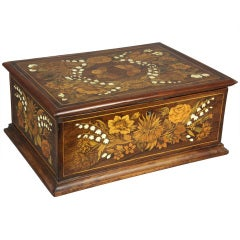 Italian Marquetry Box By Falcini, Florence