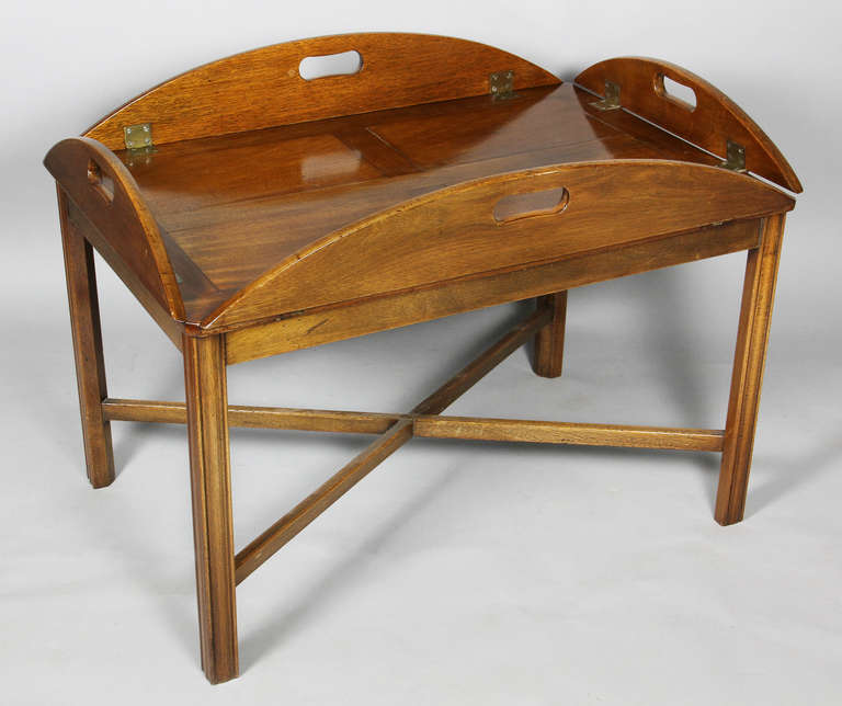 English mahogany butlers tray coffee table at 1stdibs Butler coffee tables