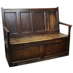 Jacobean Oak Settle Bench