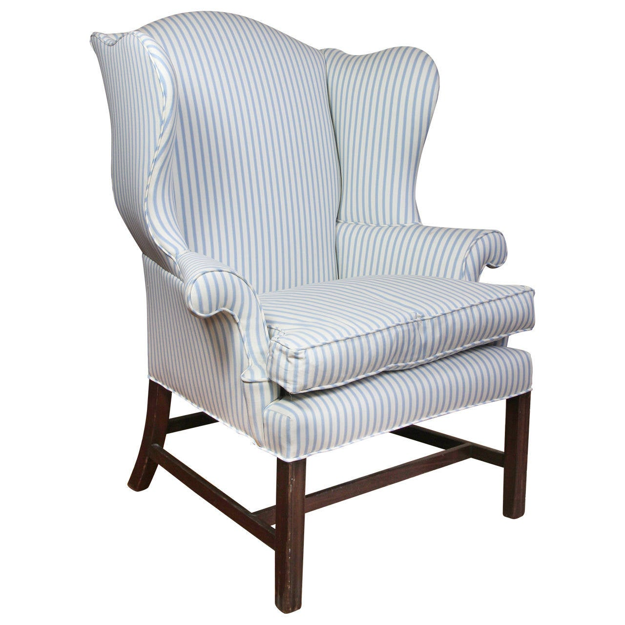 american chippendale mahogany wing chair 1