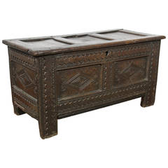 Jacobean Oak Coffer Chest