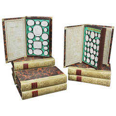 Set of Nine Italian Boxed Plaster Intaglios