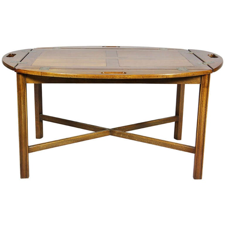 English Mahogany Butlers Tray Coffee table at 1stdibs