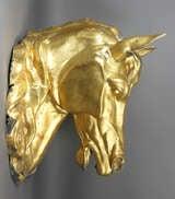 Gilded Zinc Horse Head image 3