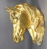Gilded Zinc Horse Head image 5