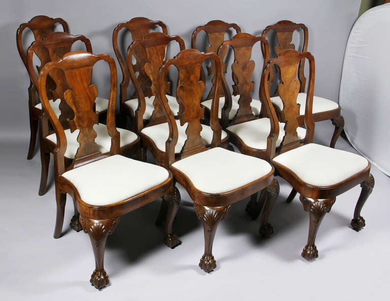 Set Of Eight George II Style Walnut Dining Chairs at 1stdibs : 10BallandClawFeetChairs1l from www.1stdibs.com size 768 x 593 jpeg 55kB