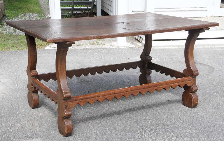 Spanish Chestnut Center Table For Sale at 1stdibs