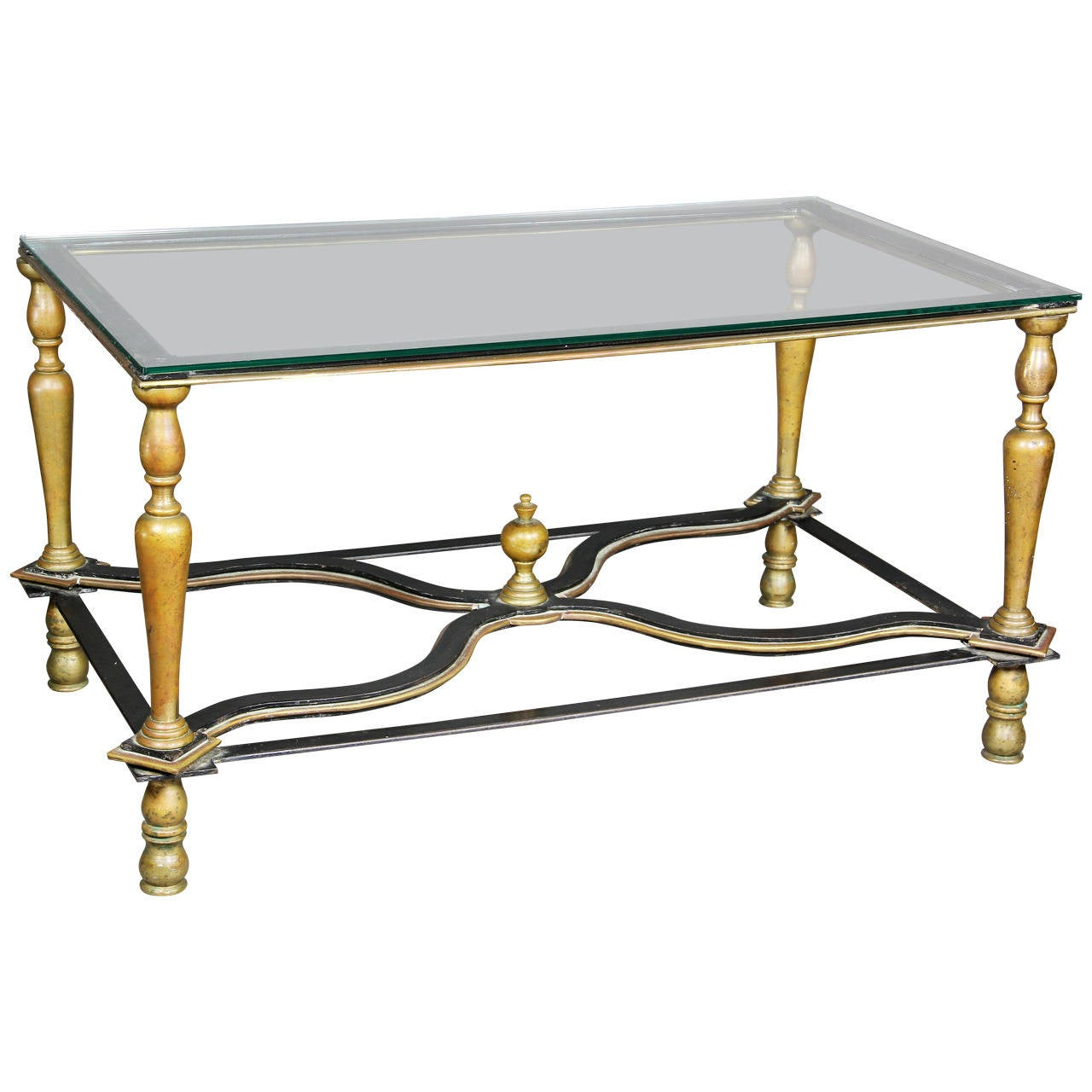 Bronze and wrought iron coffee table for sale at 1stdibs Wrought iron coffee tables