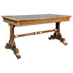 William IV Rosewood and Giltwood Writing Table