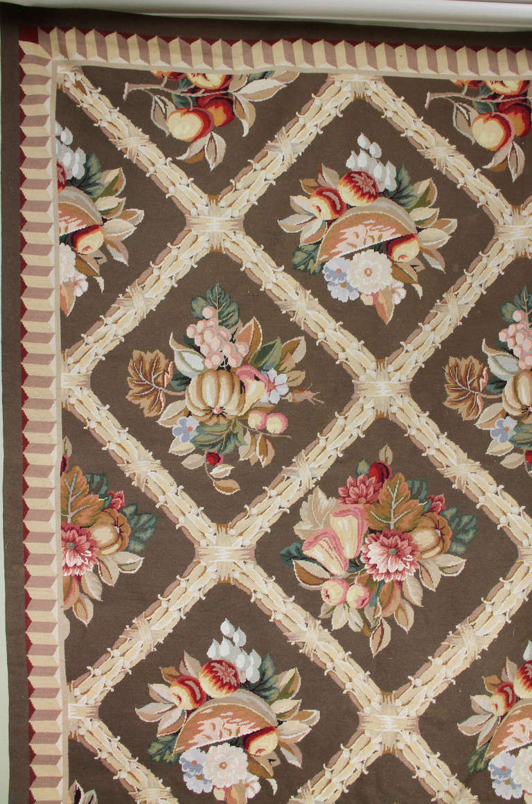 Stark Wool Needlepoint Carpet At 1stdibs