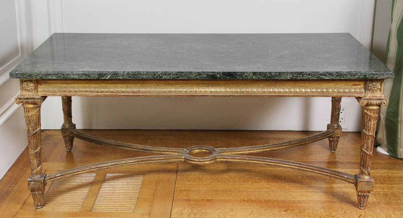 french neoclassical style giltwood coffee table for sale at 1stdibs