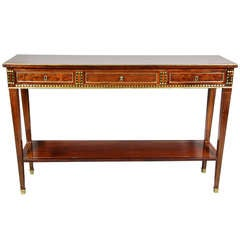 Charles X Style Mahogany And Brass Inlaid Side Table