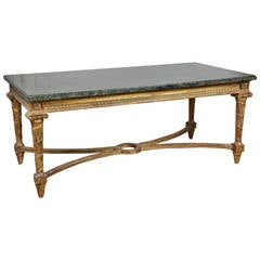 French Neoclassical Style Giltwood Coffee Table