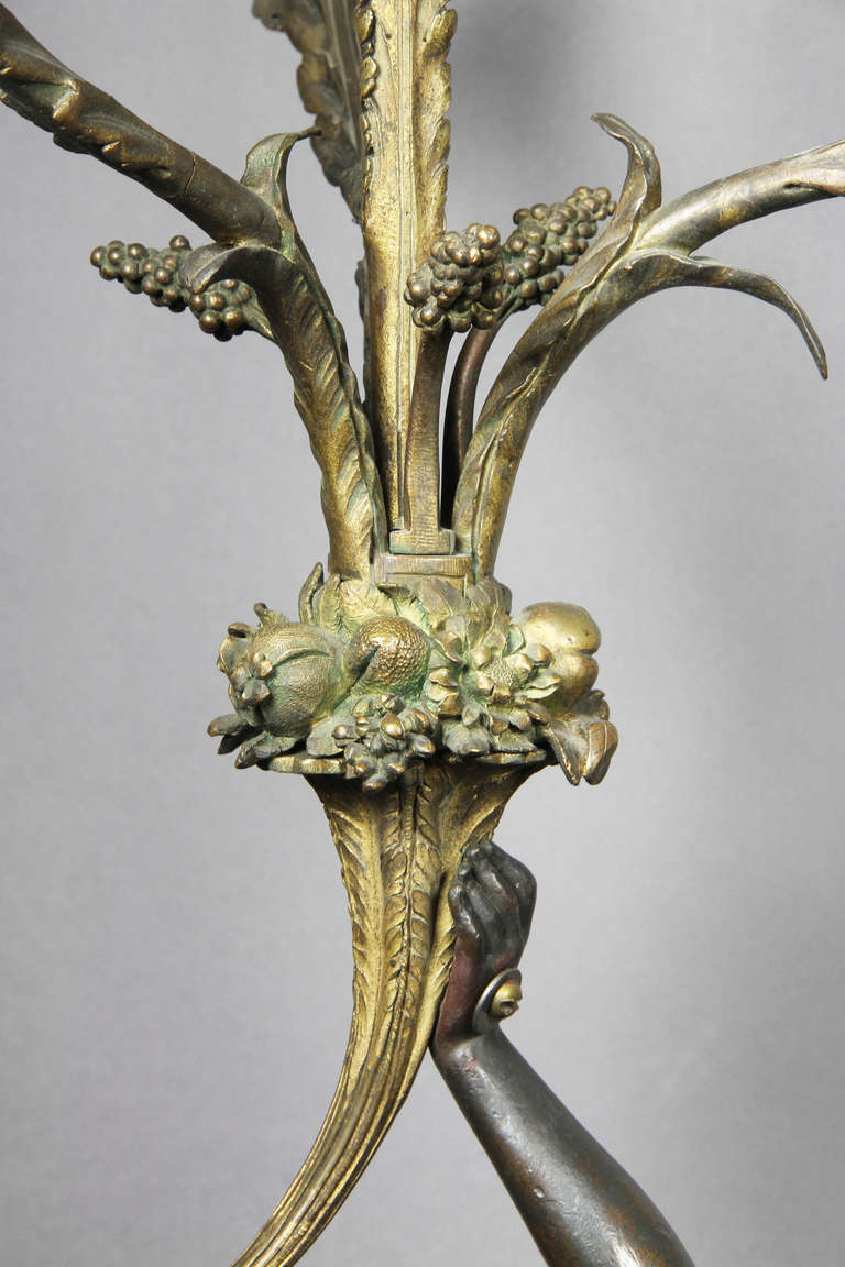 Pair of Louis XVI Bronze and Ormolu Candelabra For Sale 1