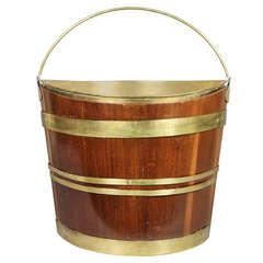 George III Mahogany and Brass Bound Bucket