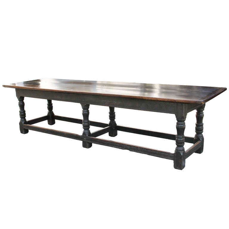 Attractive Jacobean Oak Refectory Table For Sale