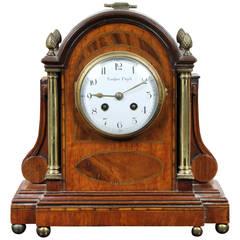 Regency Mahogany and Inlaid Mantel Clock