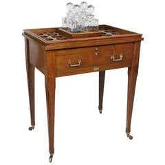 Aspreys London Mahogany Drinks Table