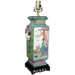 Japanese Porcelain Table Lamp