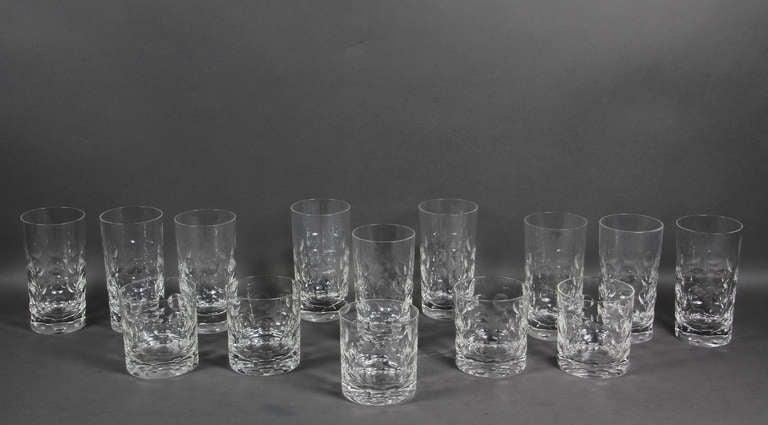 ac320700d90 Mid-Century Modern Set Of Fourteen Glasses By Ward Bennett For Tiffany For  Sale