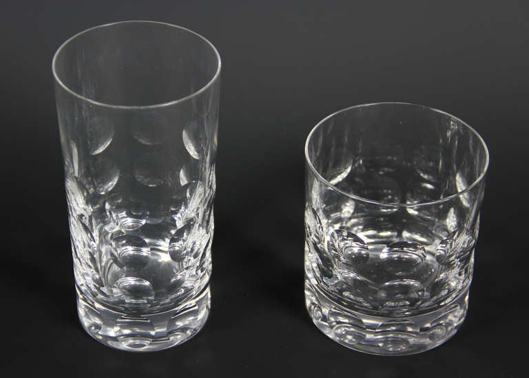 e8ccb296fed American Set Of Fourteen Glasses By Ward Bennett For Tiffany For Sale