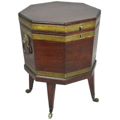 George III Mahogany and Brass Mounted Cellerette