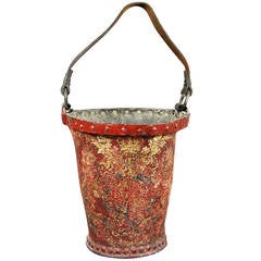 Victorian Red Leather Fire Bucket