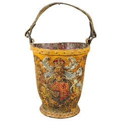 Victorian Painted Leather Fire Bucket