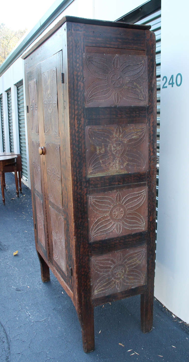 American Faux Painted And Tin Pie Safe At 1stdibs