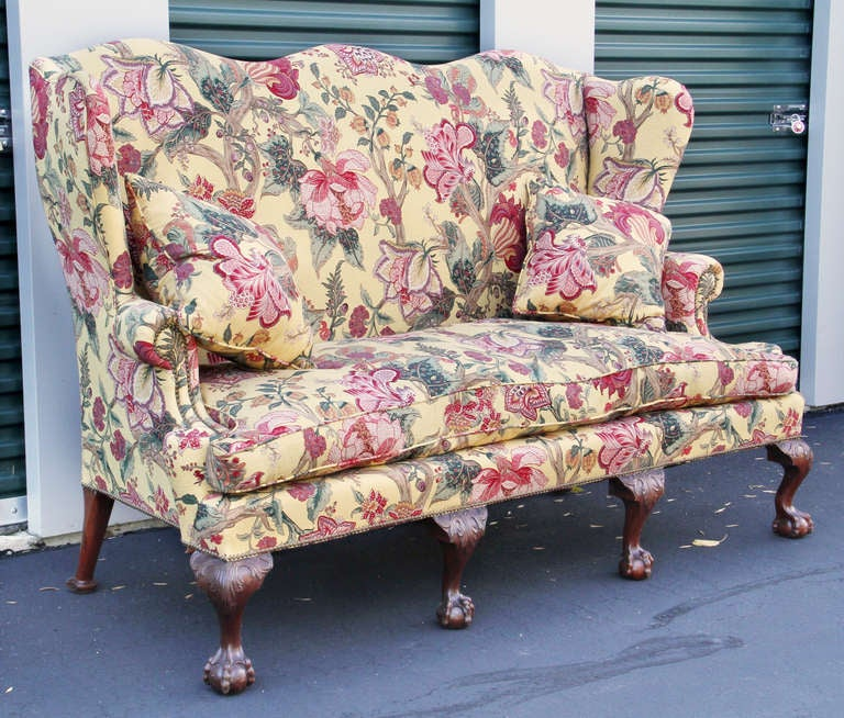 Georgian style mahogany sofa for sale at 1stdibs for Chintz couch