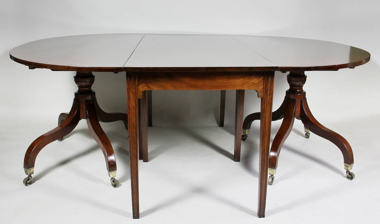 Unusual irish regency two pedestal dining table for sale for Unusual dining tables for sale
