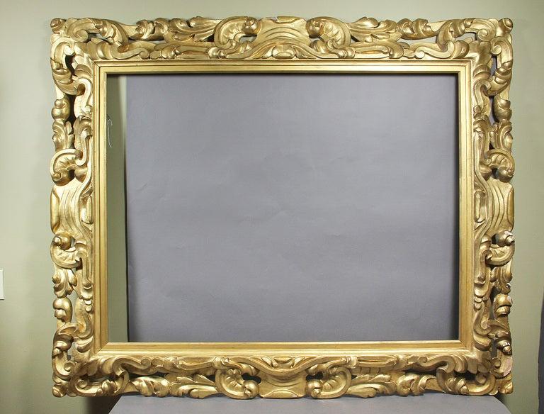Large Italian Baroque Style Giltwood Frame 2
